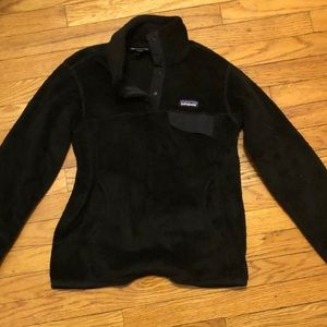 *Patagonia* - snap 1/4 pull over - black